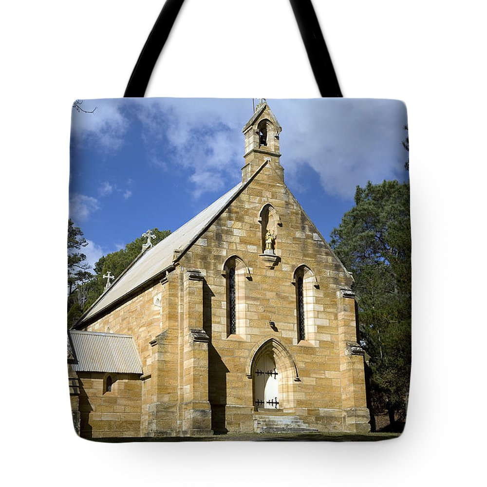 Berrima Tote Bag featuring the photograph Church In Berrima A Town In Regional New South Wales Australia by Martin Berry