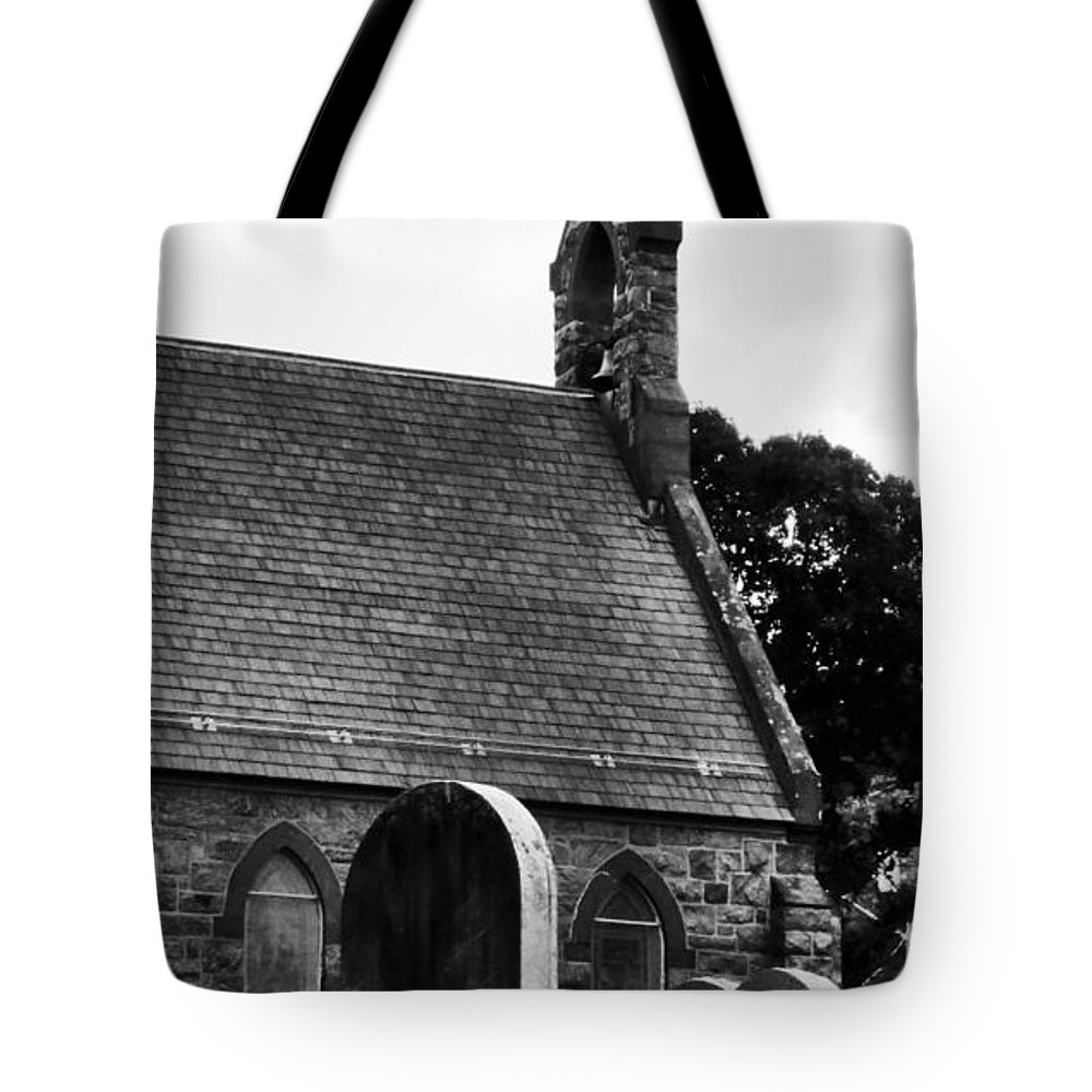 Church Tote Bag featuring the photograph Church In The Woods by Art Dingo