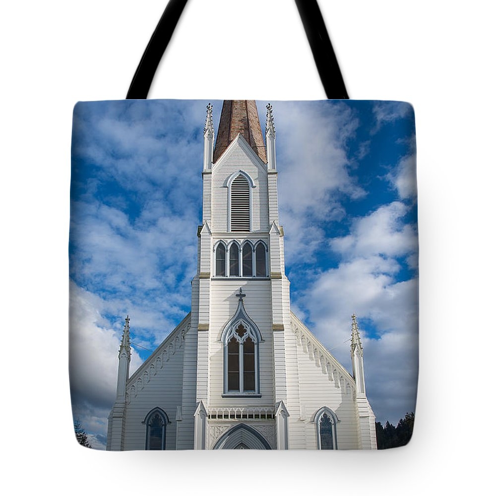 Church Of Assumption Tote Bag featuring the photograph Church Of Assumption by Greg Nyquist