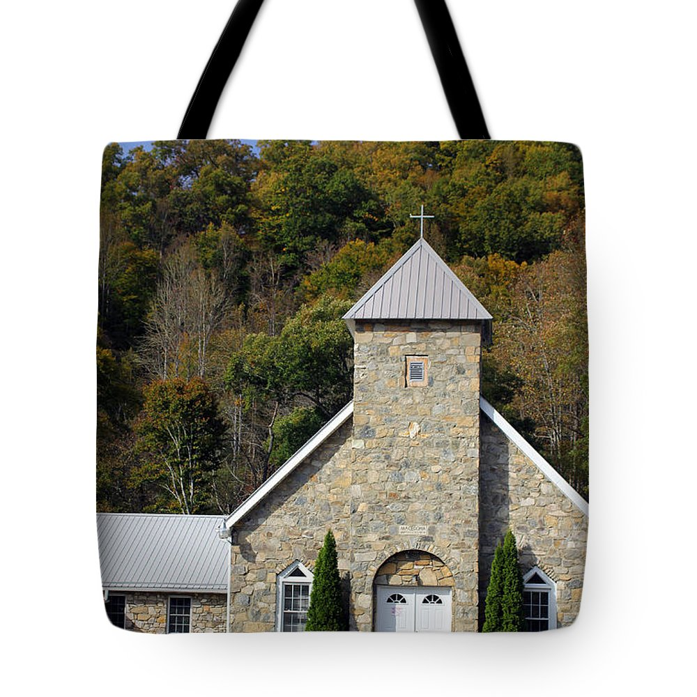 Churches Tote Bag featuring the photograph Church Of Rock by Jennifer Robin