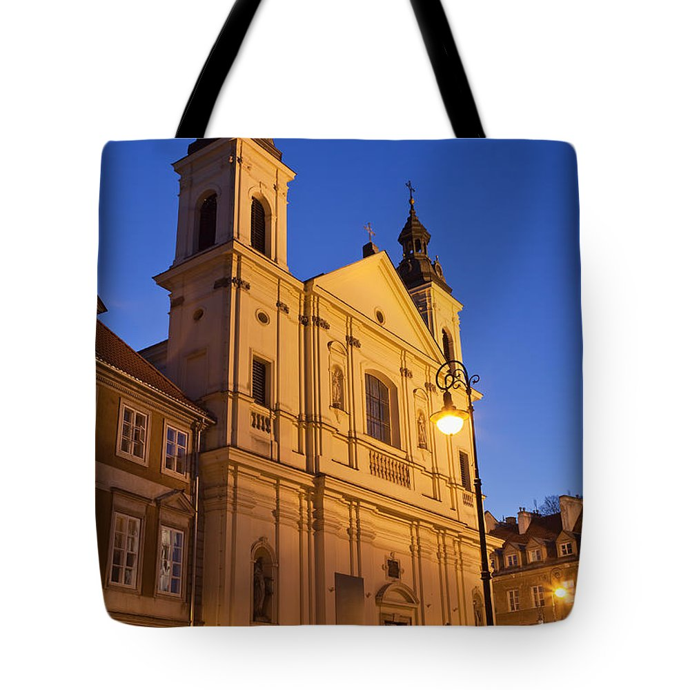 17th Tote Bag featuring the photograph Church Of The Holy Spirit In Warsaw by Artur Bogacki