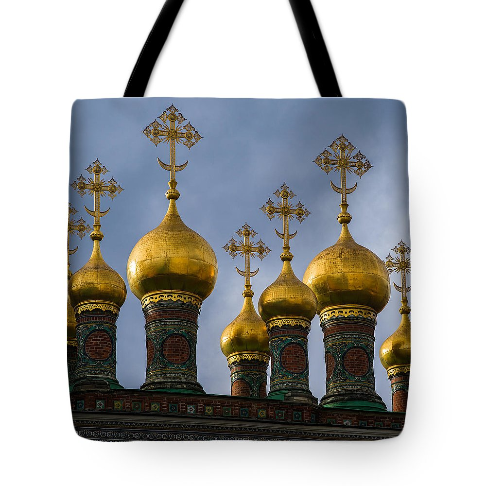 Architecture Tote Bag featuring the photograph Church Of The Nativity Of Moscow Kremlin - Square by Alexander Senin