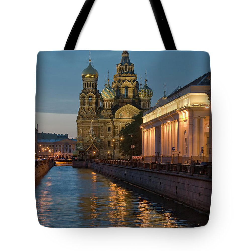 Built Structure Tote Bag featuring the photograph Church Of The Saviour On Spilled Blood by Izzet Keribar
