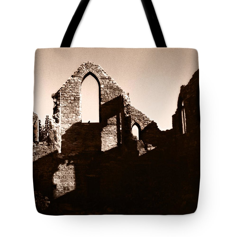 Church Tote Bag featuring the photograph Church Ruins by Trachenberg Trachenberg