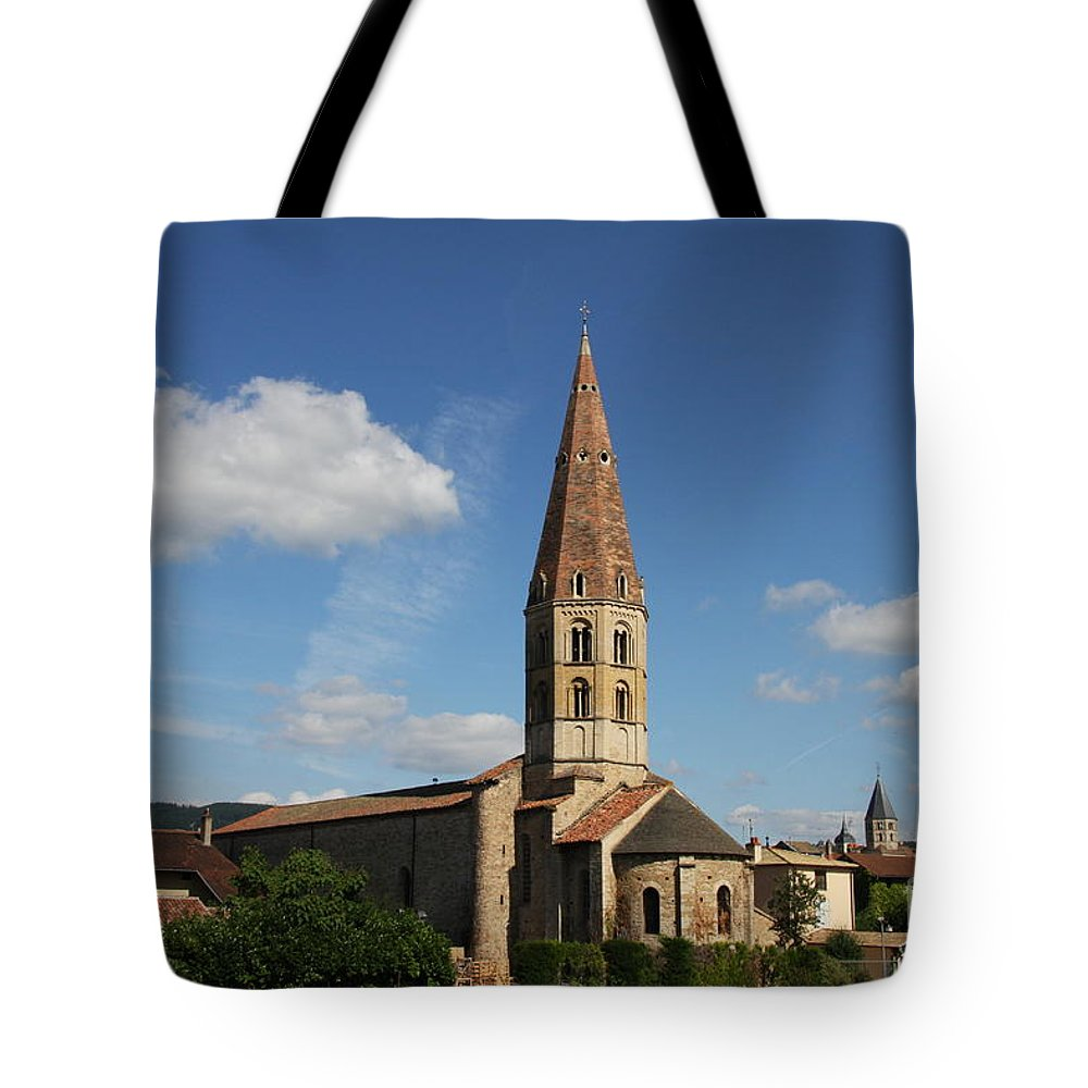 Church Tote Bag featuring the photograph Church Saint Marcel - Cluny by Christiane Schulze Art And Photography