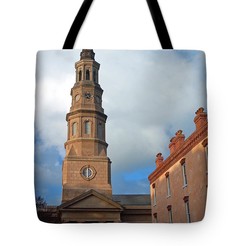 Church Street Tote Bag featuring the photograph Church Street In Charleston Sc by Suzanne Gaff