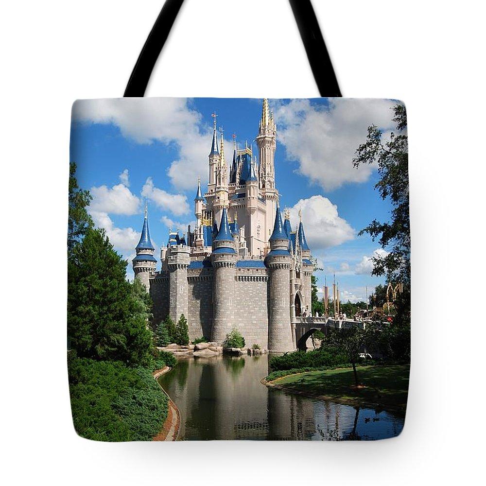 Cinderellas Castle Tote Bag featuring the photograph Cinderellas Castle by Eric Liller