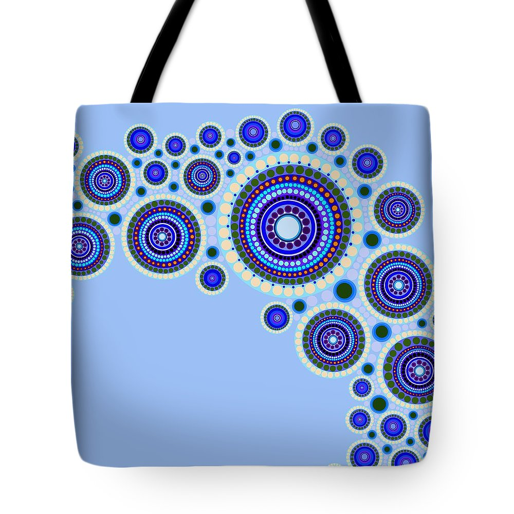 Art Tote Bag featuring the painting Circle Motif 117 by John F Metcalf