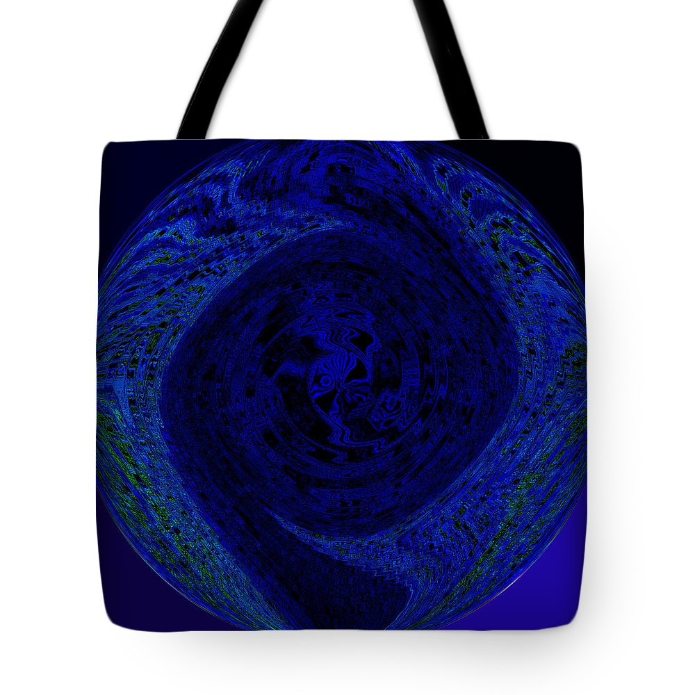 Blue Tote Bag featuring the painting Circle Of Blues by Alli Cullimore