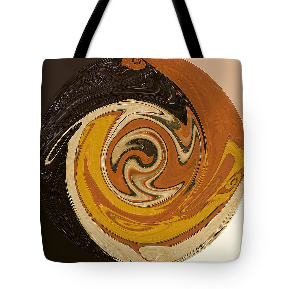 Brown Tote Bag featuring the painting Circle Of Browns by Alli Cullimore