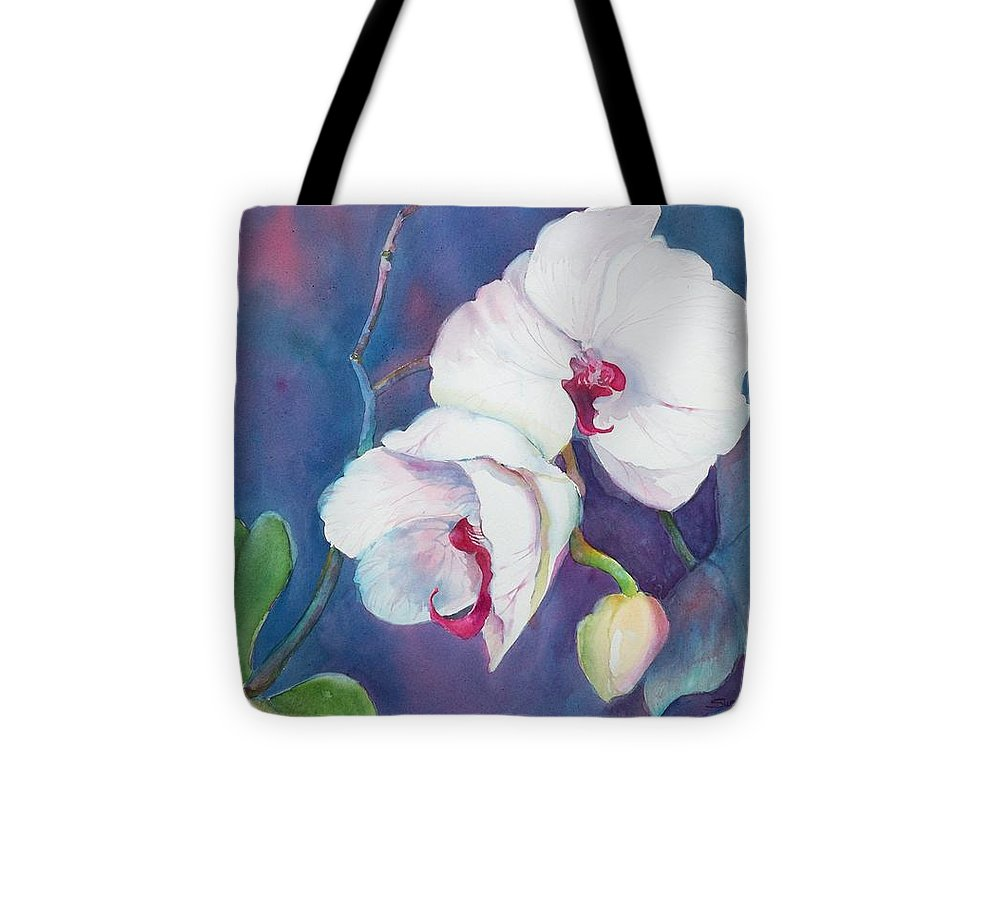 Orchid Painting Tote Bag featuring the painting Circle Of Life by Sue Kemp
