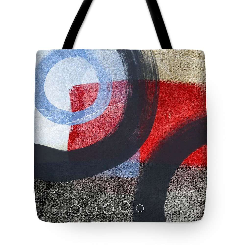 Circles Tote Bag featuring the painting Circles 1 by Linda Woods