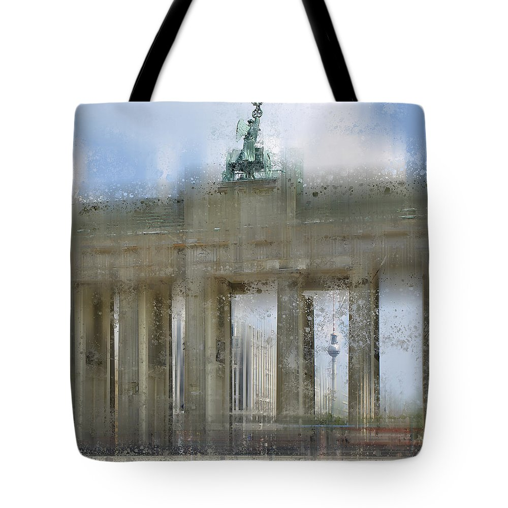 Europe Tote Bag featuring the photograph City-art Berlin Brandenburg Gate by Melanie Viola