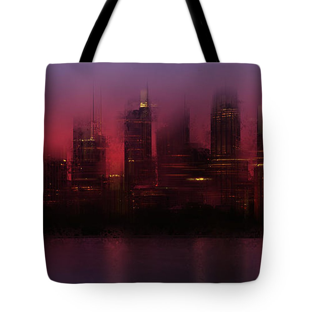Australia Tote Bag featuring the photograph City-art Sydney Skyline by Melanie Viola