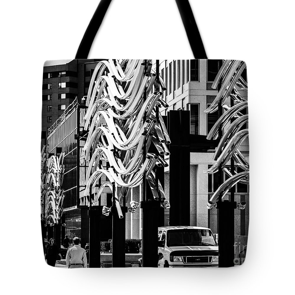 Facade Tote Bag featuring the photograph City Center-10 by David Fabian