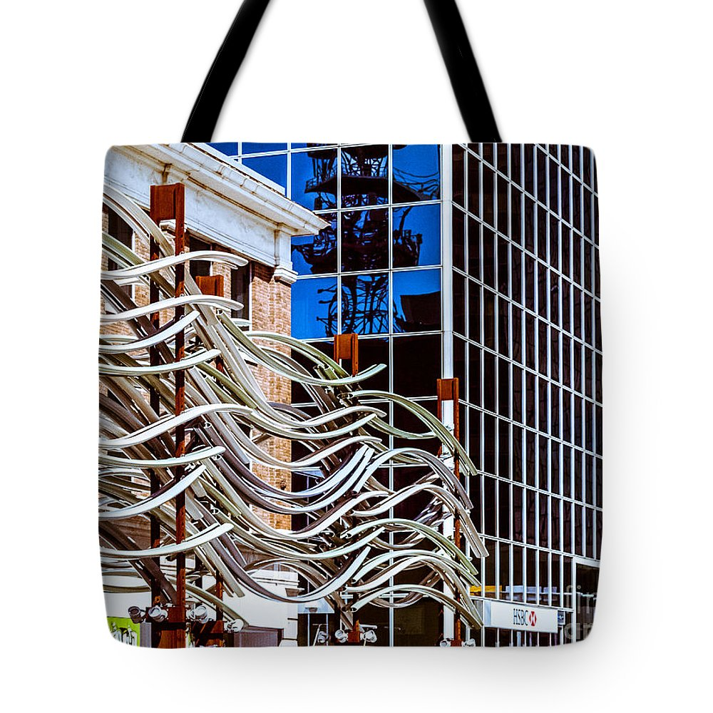 Digital Colour Tote Bag featuring the photograph City Center-27 by David Fabian