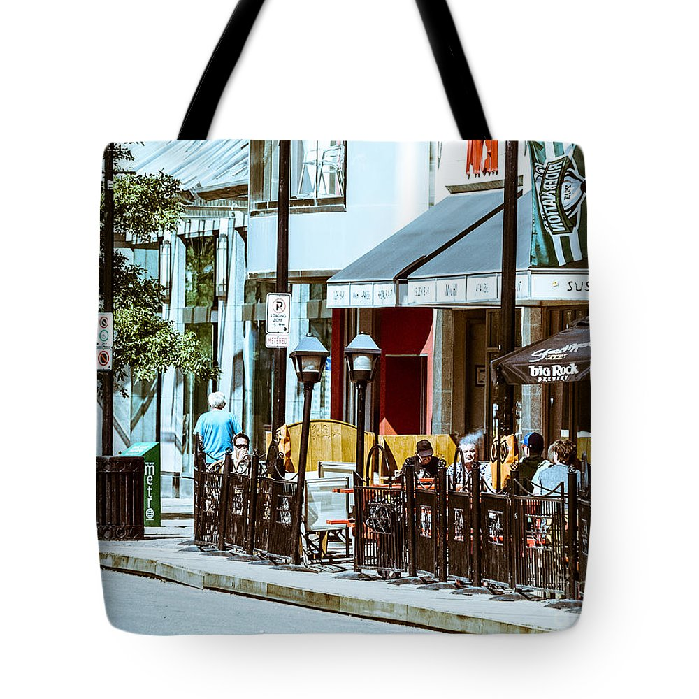 City Scape Tote Bag featuring the photograph City Center-61 by David Fabian
