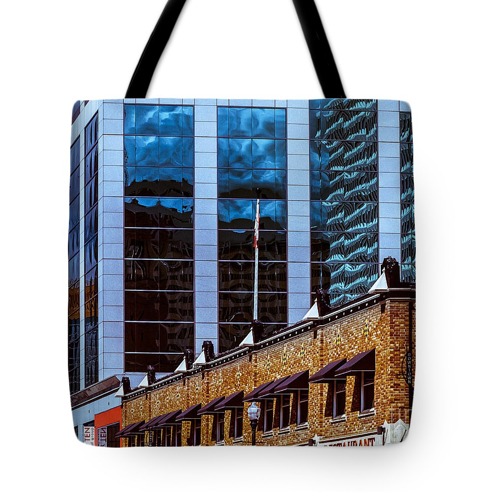 Urban Colour Tote Bag featuring the photograph City Center-72 by David Fabian
