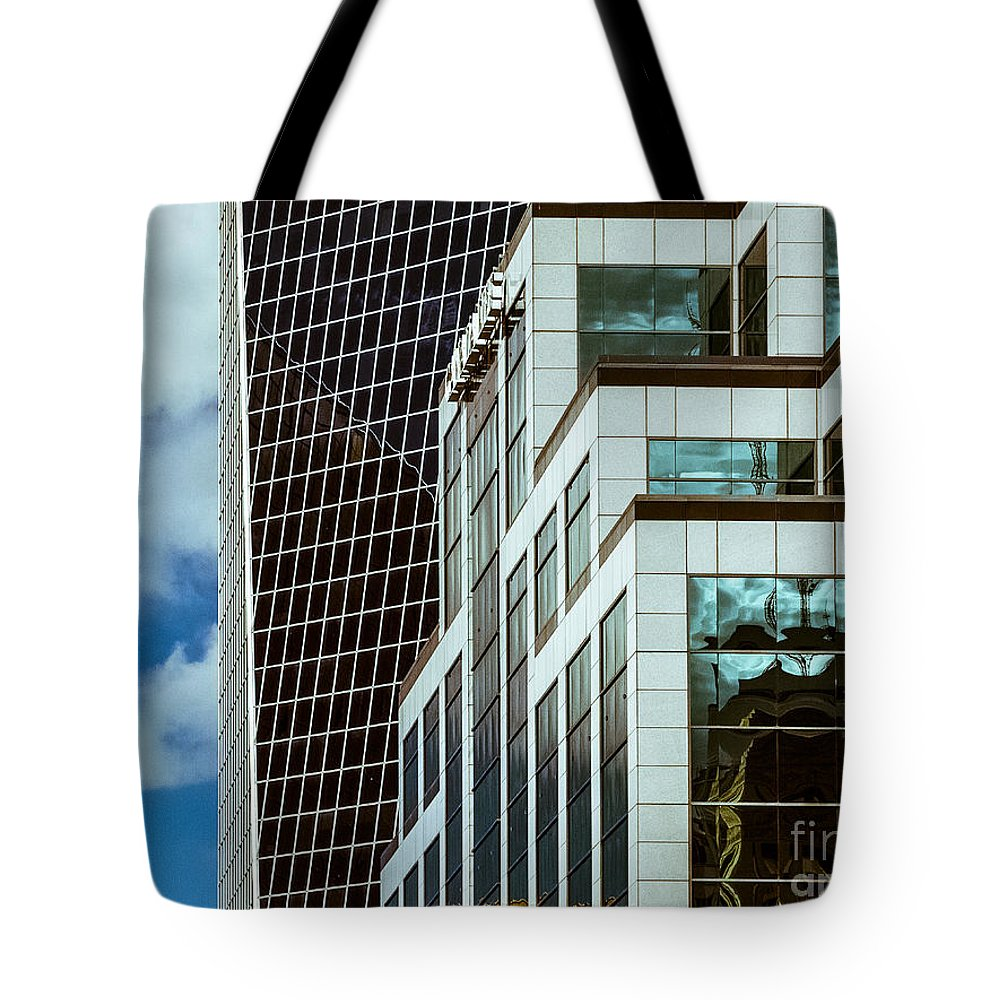 Urban Colour Tote Bag featuring the photograph City Center-82 by David Fabian