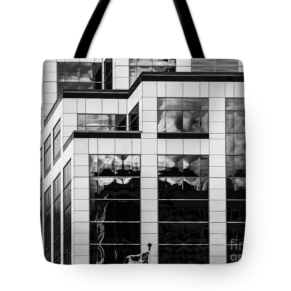Reflections Tote Bag featuring the photograph City Center-83 by David Fabian