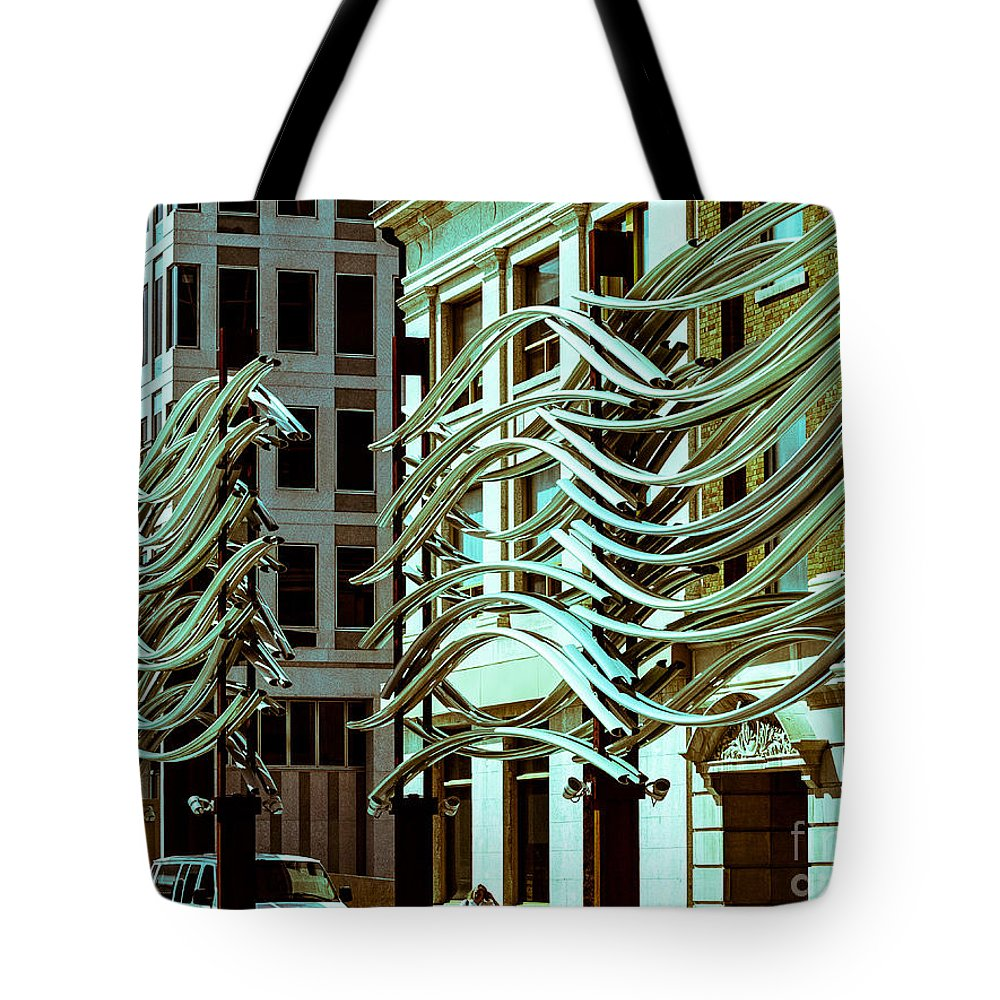 Facade Tote Bag featuring the photograph City Center-9 by David Fabian