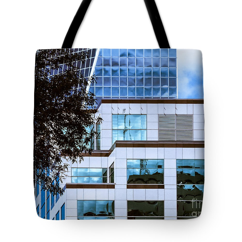 Urban Colour Tote Bag featuring the photograph City Center-92 by David Fabian