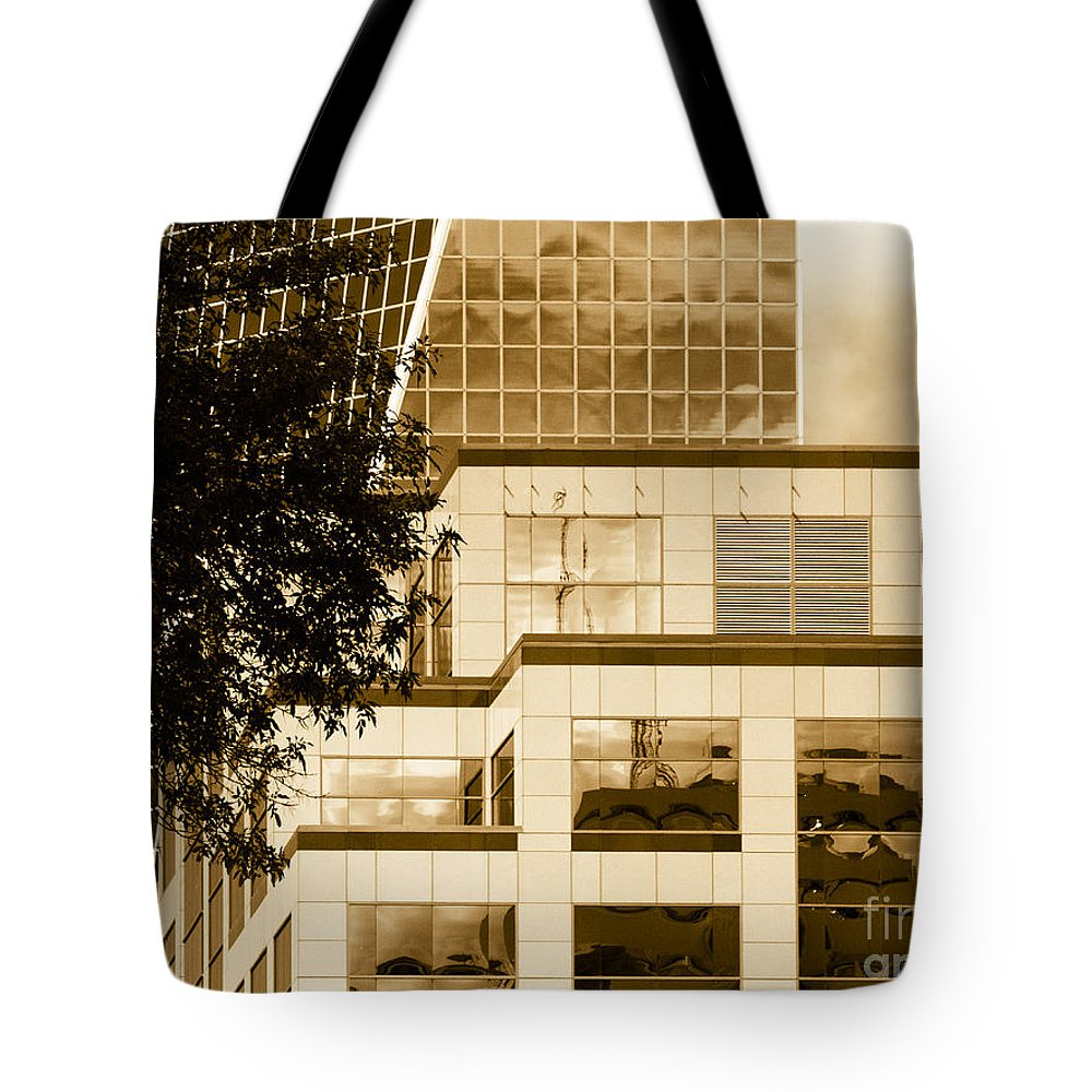 Digital Colour Tote Bag featuring the photograph City Center-94 by David Fabian