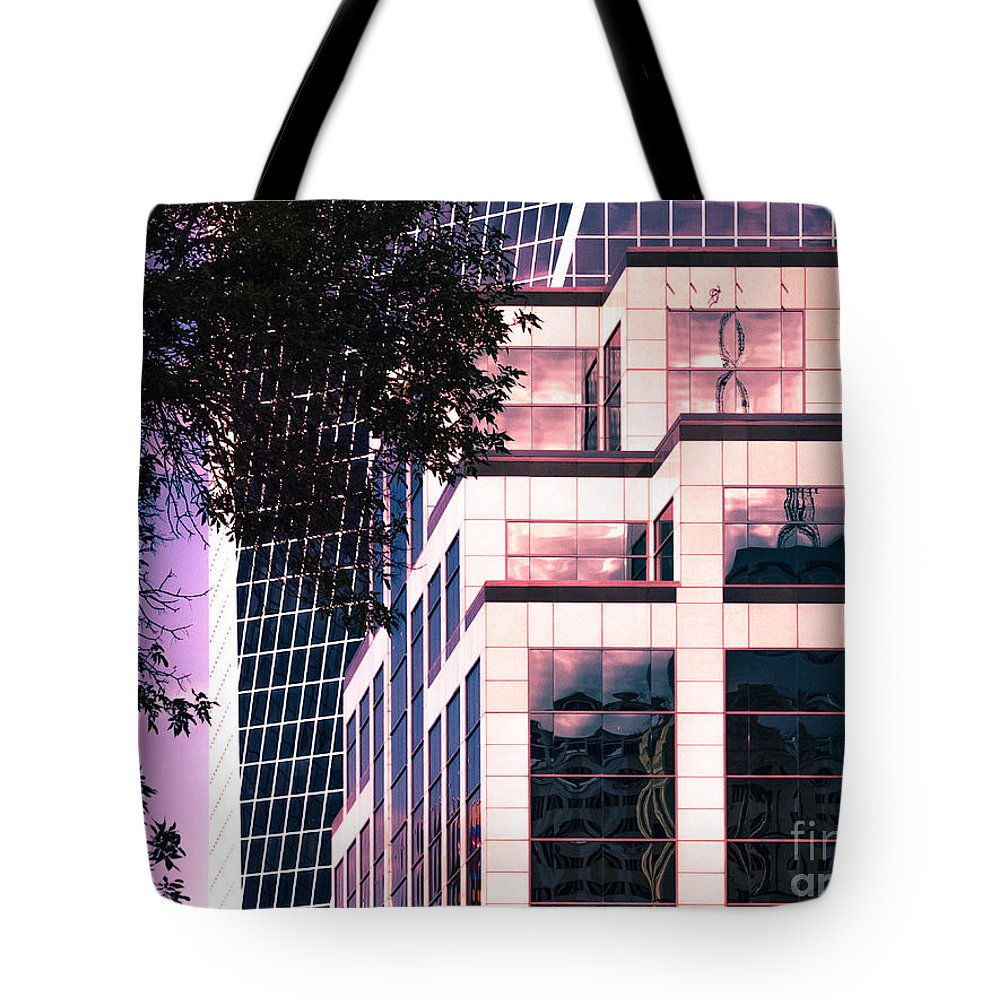 Urban Colour Tote Bag featuring the photograph City Center-95 by David Fabian