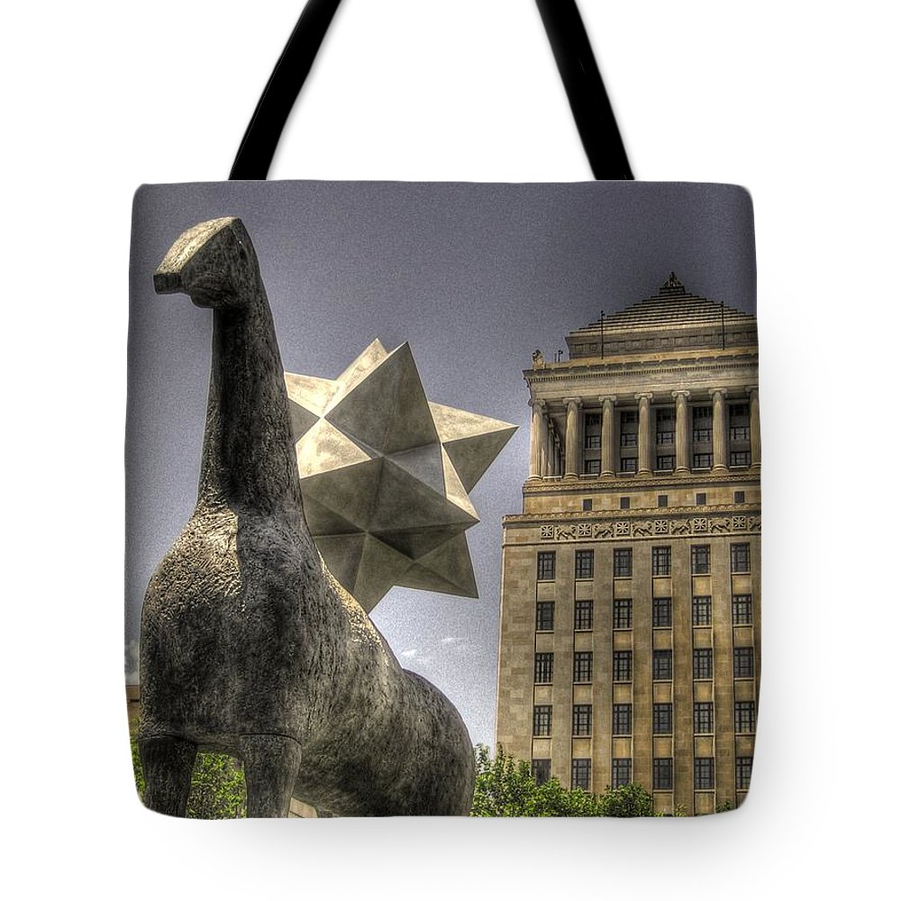 St. Louis Tote Bag featuring the photograph City Garden St. Louis by Jane Linders