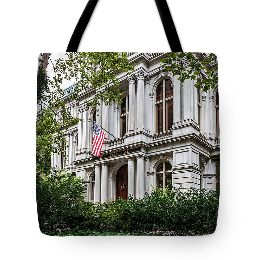 America Tote Bag featuring the photograph City Hall Summer by Susan Cole Kelly