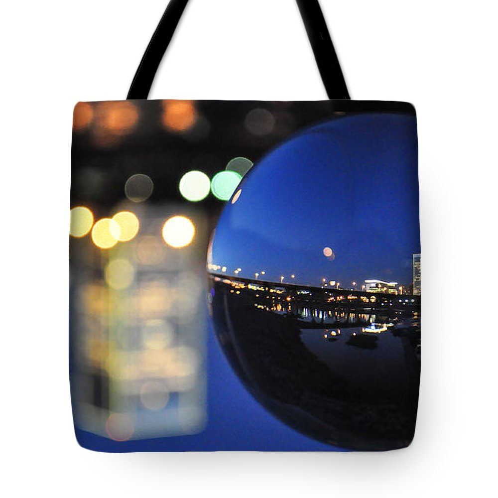 Rva Tote Bag featuring the photograph City In A Globe by Stacy Abbott