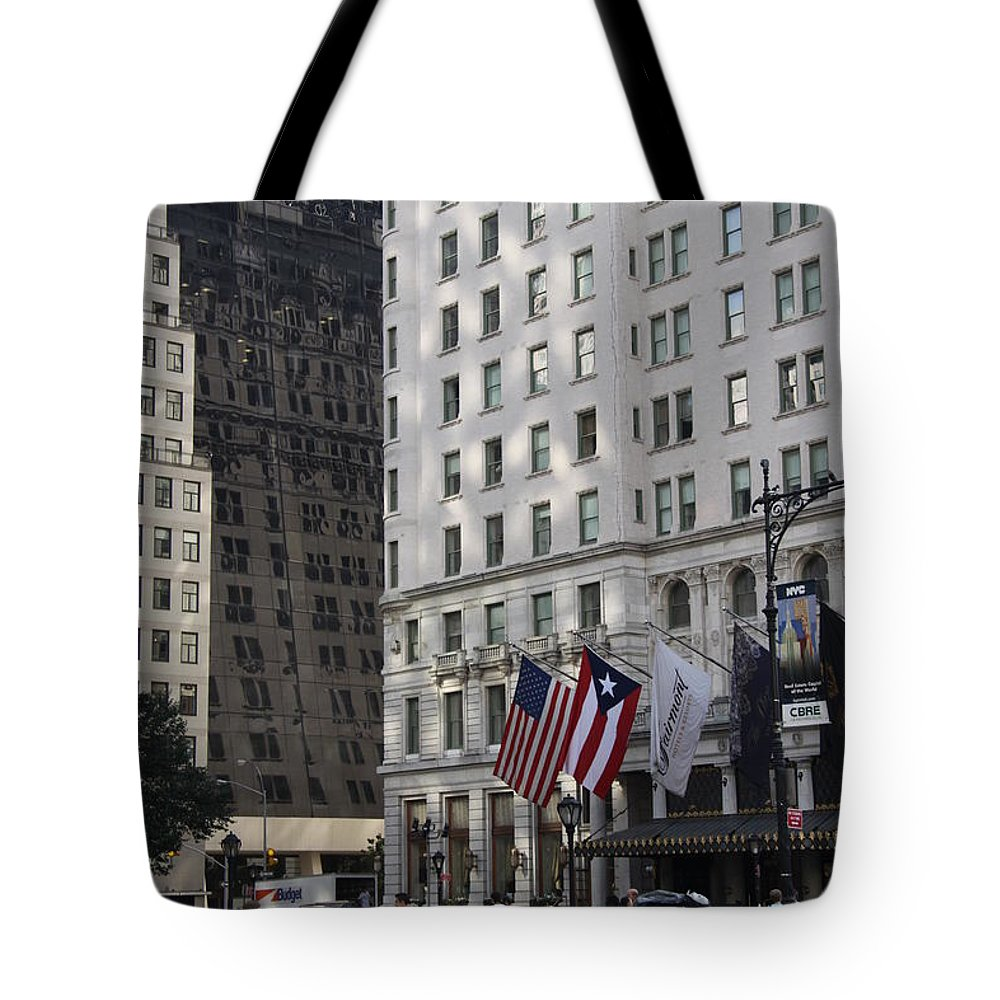 City Tote Bag featuring the photograph City Life - New York City by Christiane Schulze Art And Photography