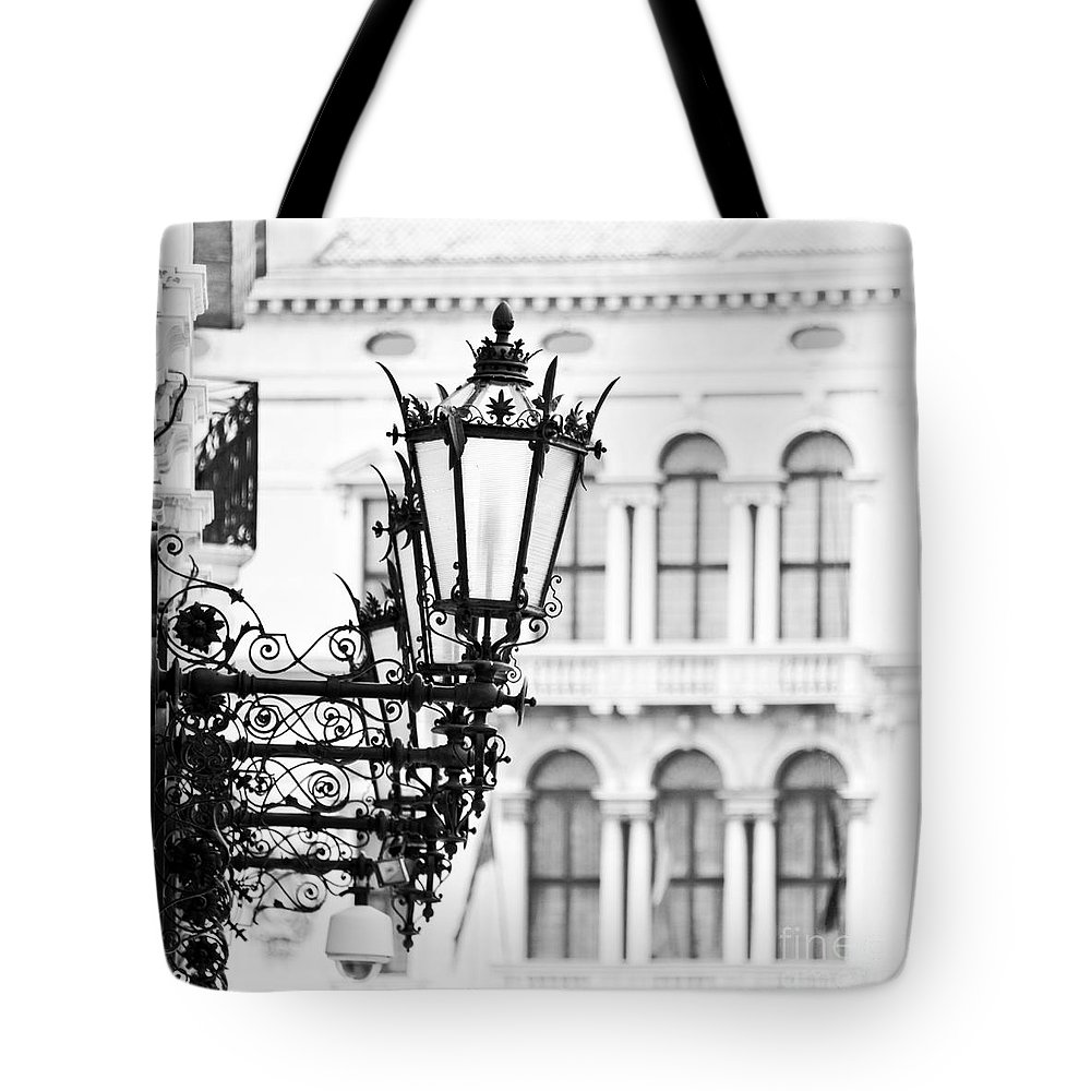 Venice Tote Bag featuring the photograph City Lights In Venice by Delphimages Photo Creations