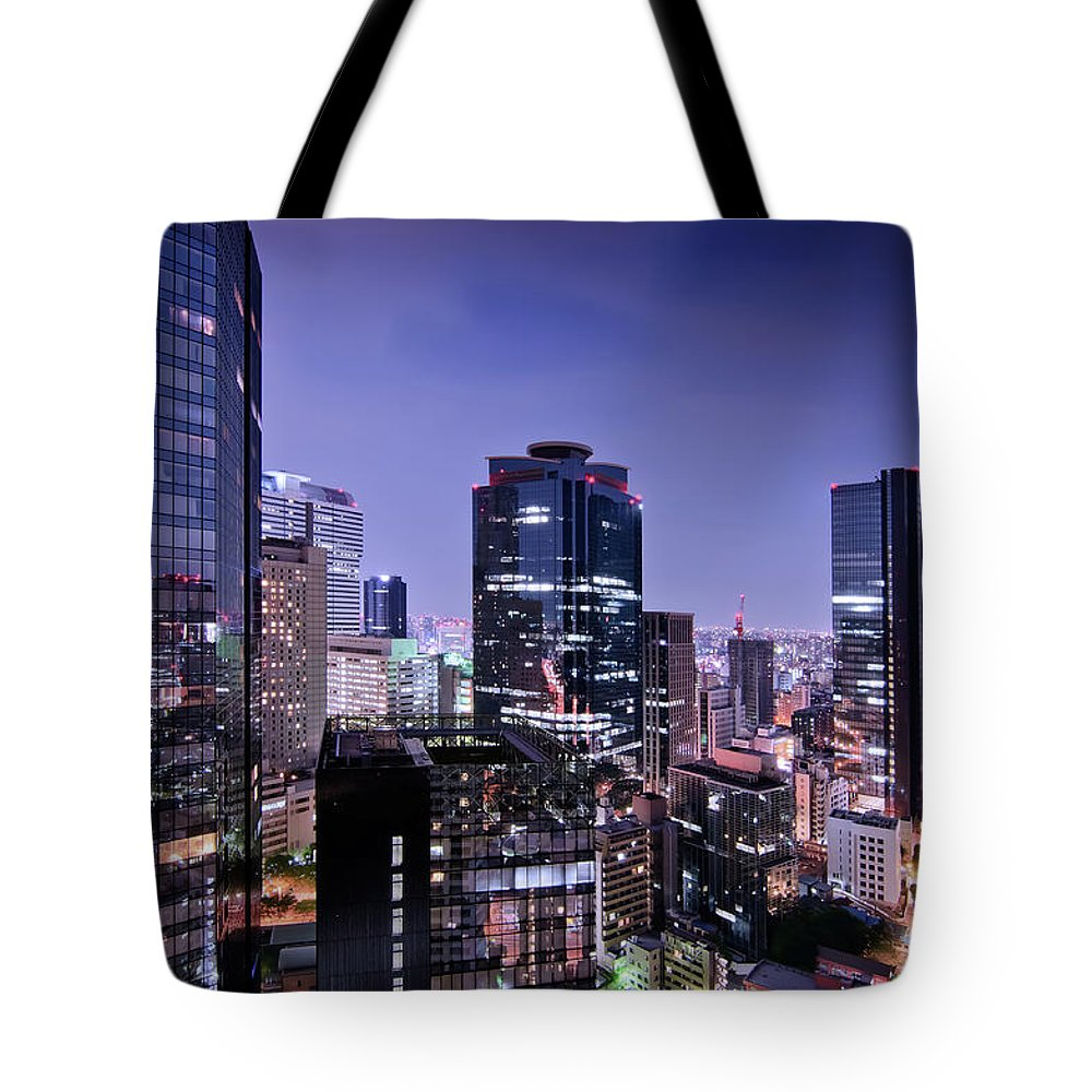 Built Structure Tote Bag featuring the photograph City Of Glass And Light by Image Provided By Duane Walker