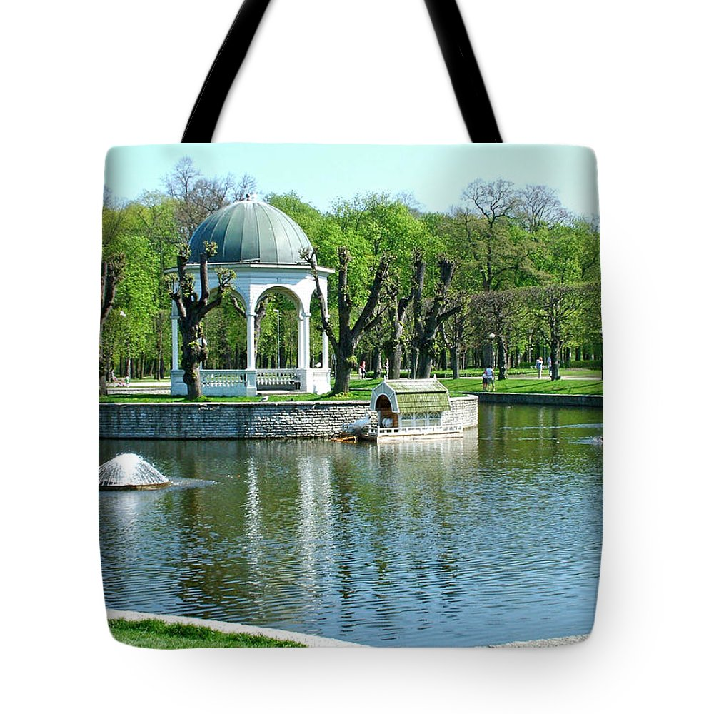 City Park In Tallinn Tote Bag featuring the photograph City Park In Tallinn-estonia by Ruth Hager