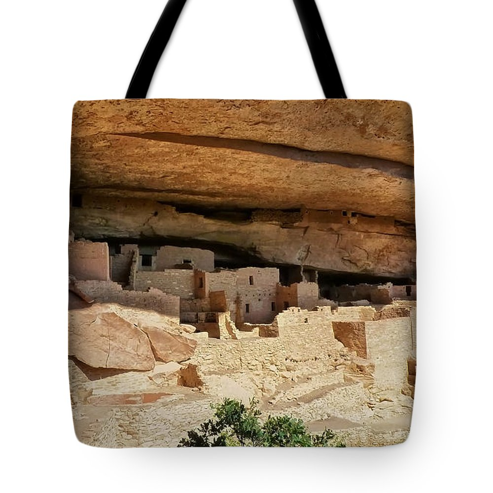 Sherry Day Tote Bag featuring the photograph City Under The Ledge by Ghostwinds Photography