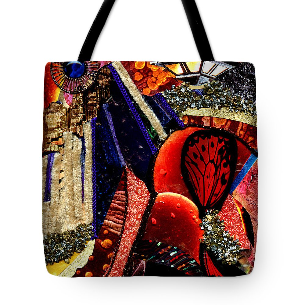 Acrylic Tote Bag featuring the mixed media Cityscape by Melanie Hudson