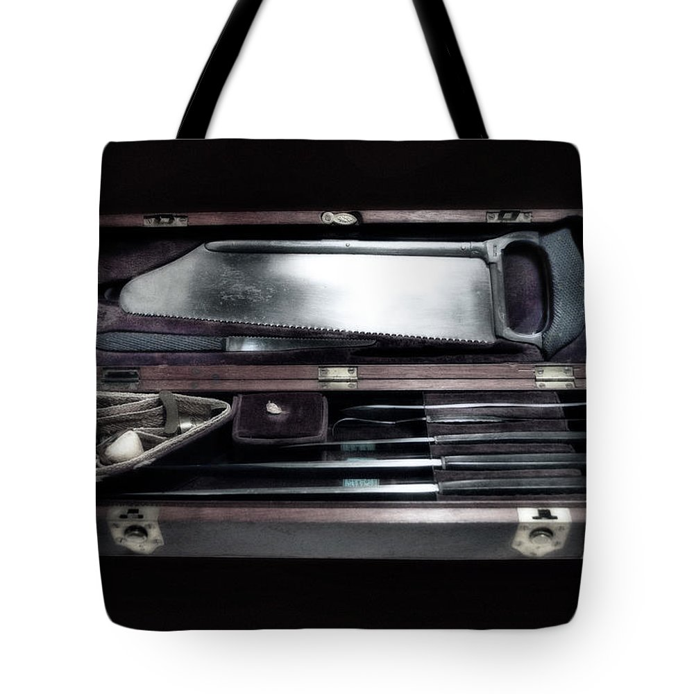 Civil War Tote Bag featuring the photograph Civil War Surgical Kit by Thomas Woolworth