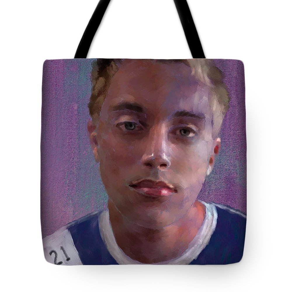 Figure Tote Bag featuring the painting CK by Scott Bowlinger