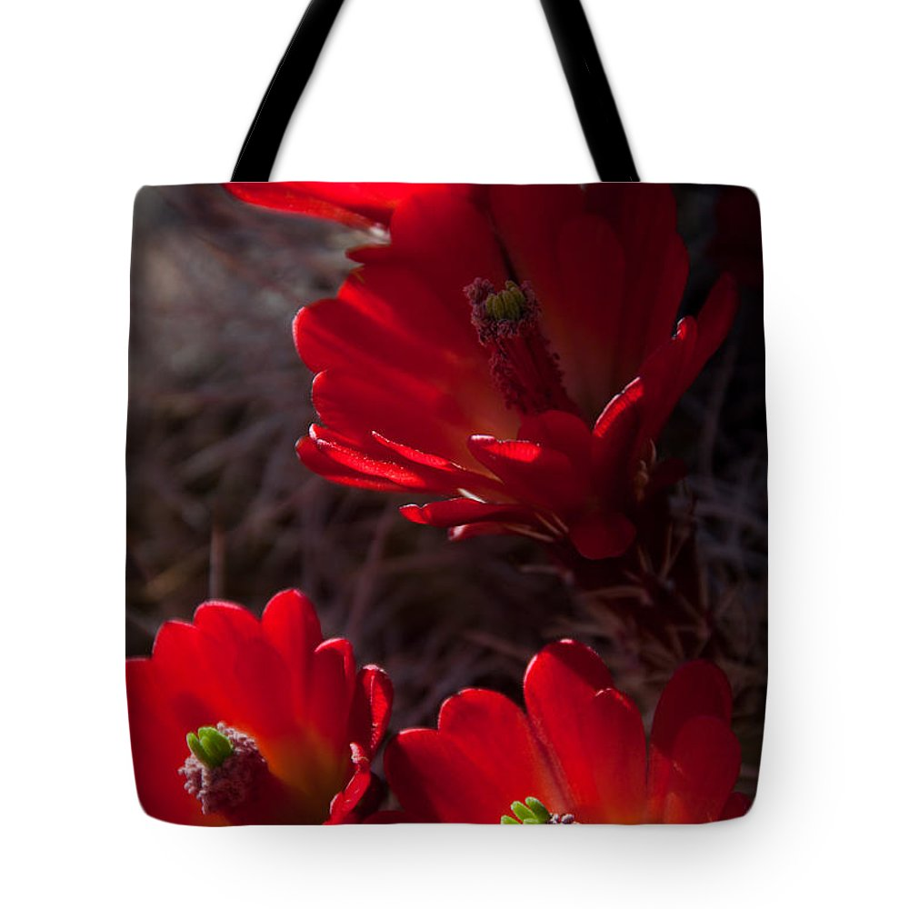 Claret Cup Tote Bag featuring the digital art Claret Cup by Neal Hebert