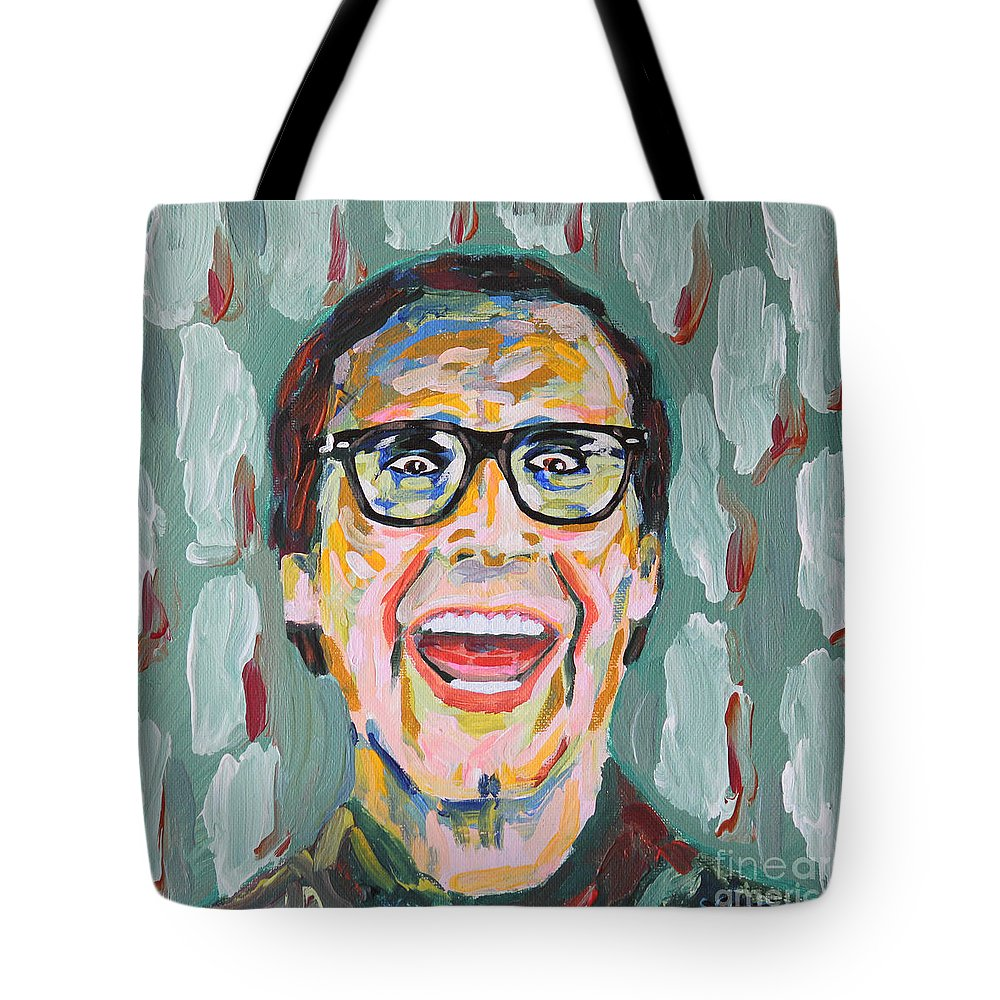 Clark W Tote Bag featuring the painting Clark W Griswold by Robert Yaeger