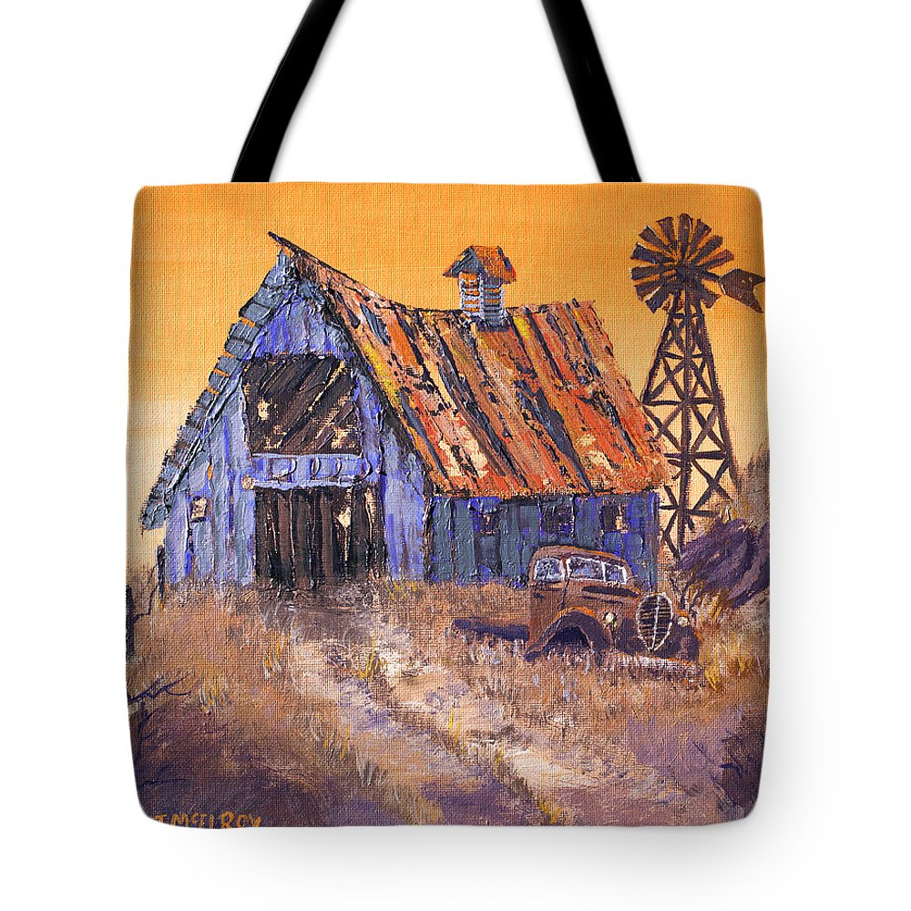 Barn Tote Bag featuring the painting Class Of 39 by Jerry McElroy