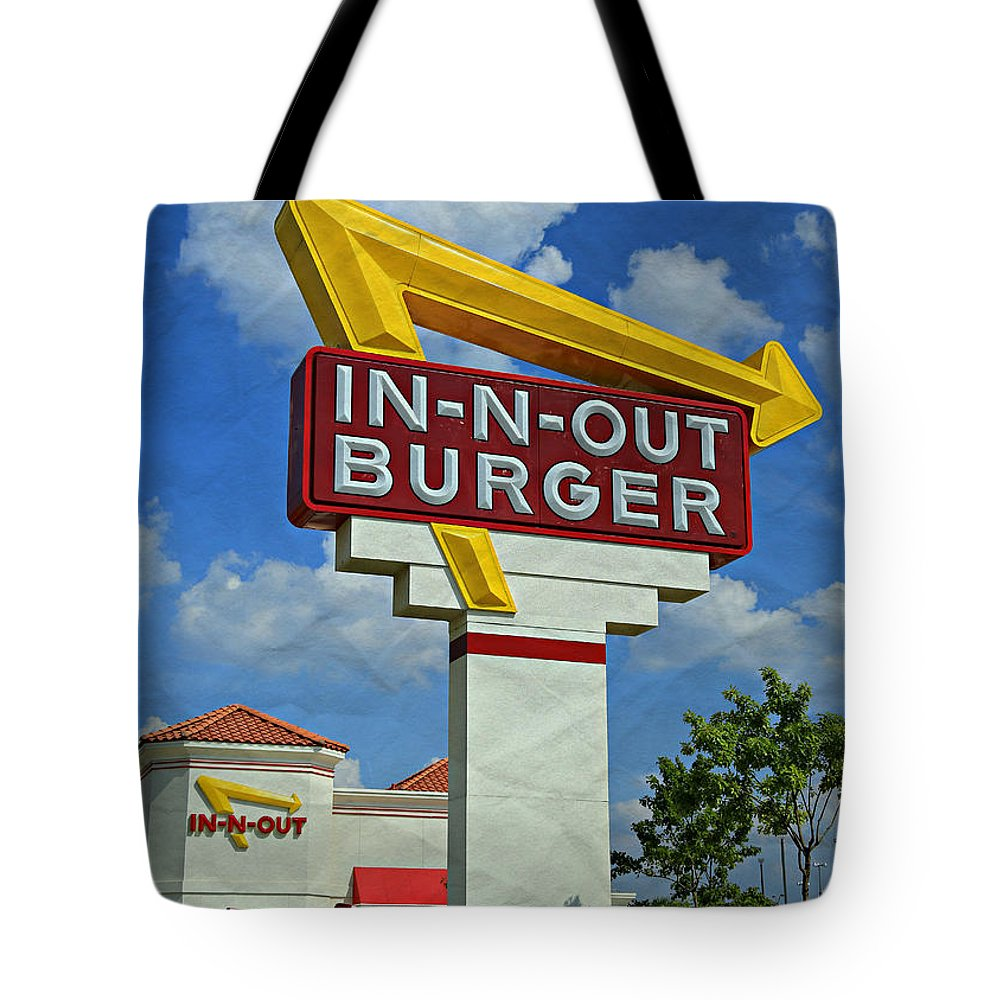 50s Tote Bag featuring the photograph Classic Cali Burger 1.1 by Stephen Stookey