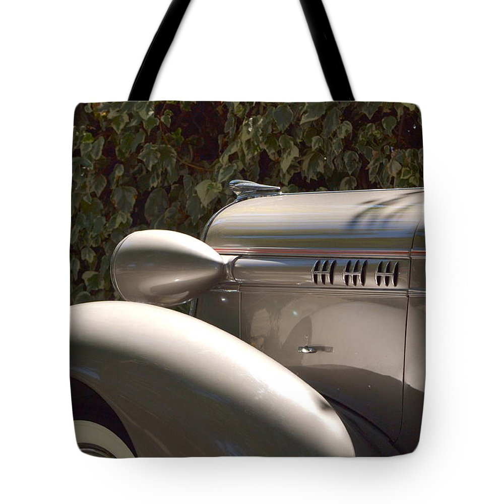 White Tote Bag featuring the photograph Classic Car by Dean Ferreira