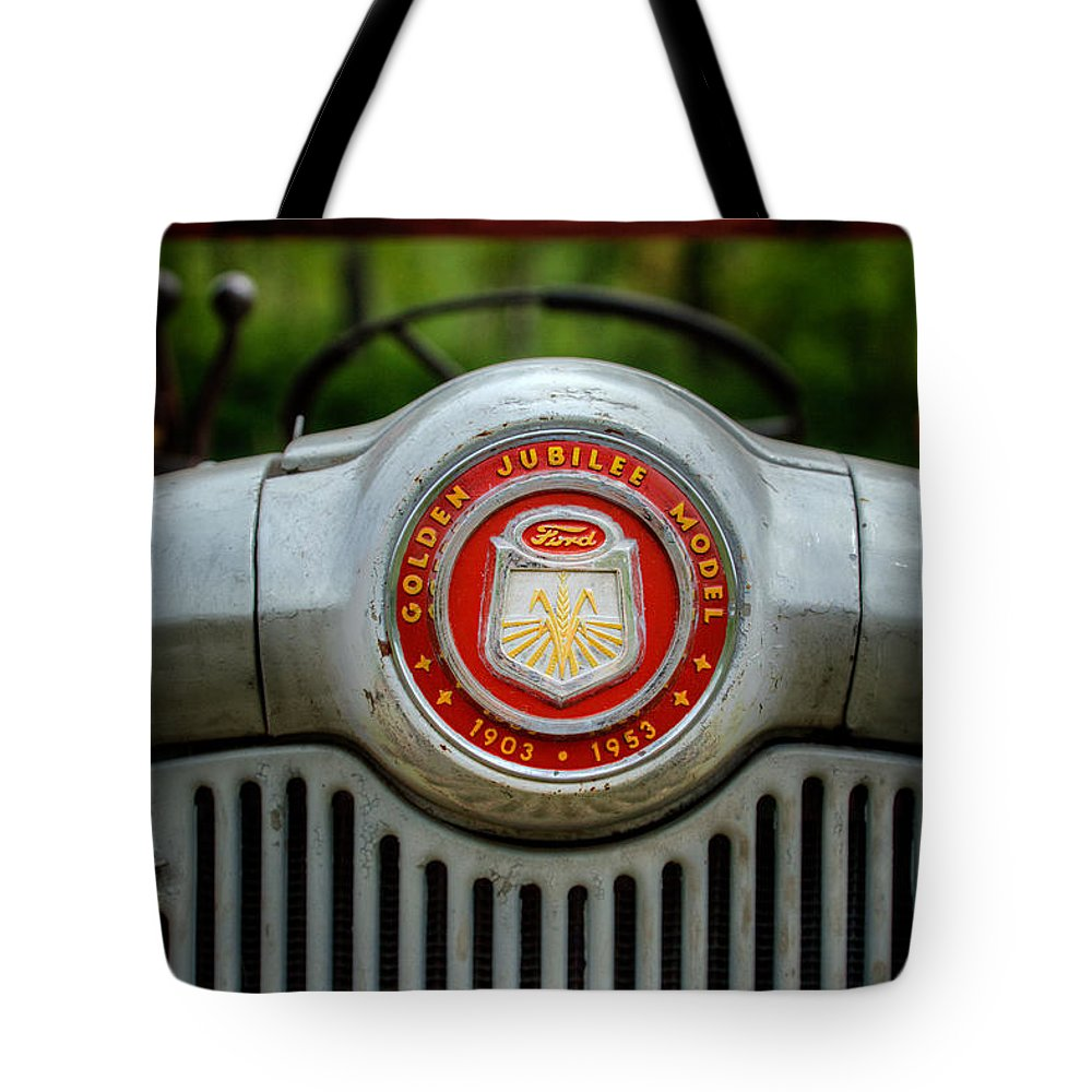 Tractor Tote Bag featuring the photograph Classic Ford by Bill Wakeley