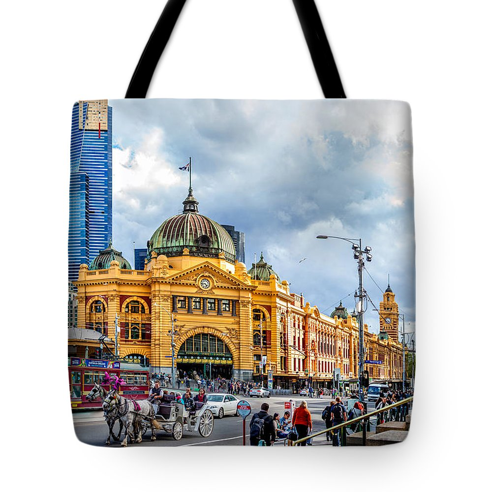 Melbourne Tote Bag featuring the photograph Classic Melbourne by Az Jackson