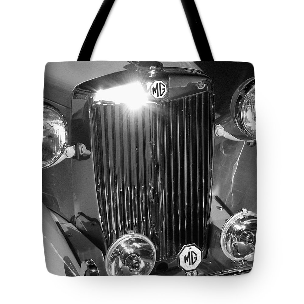 Love Tote Bag featuring the photograph Classic Mg Roadster Motor Car by Mara Lee