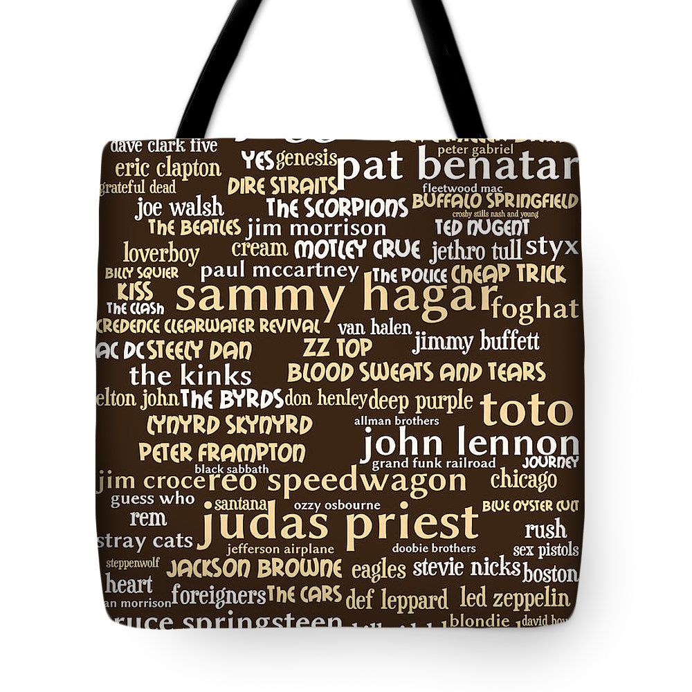 Wingsdomain Tote Bag featuring the digital art Classic Rock 20130625bwwa85 by Wingsdomain Art and Photography