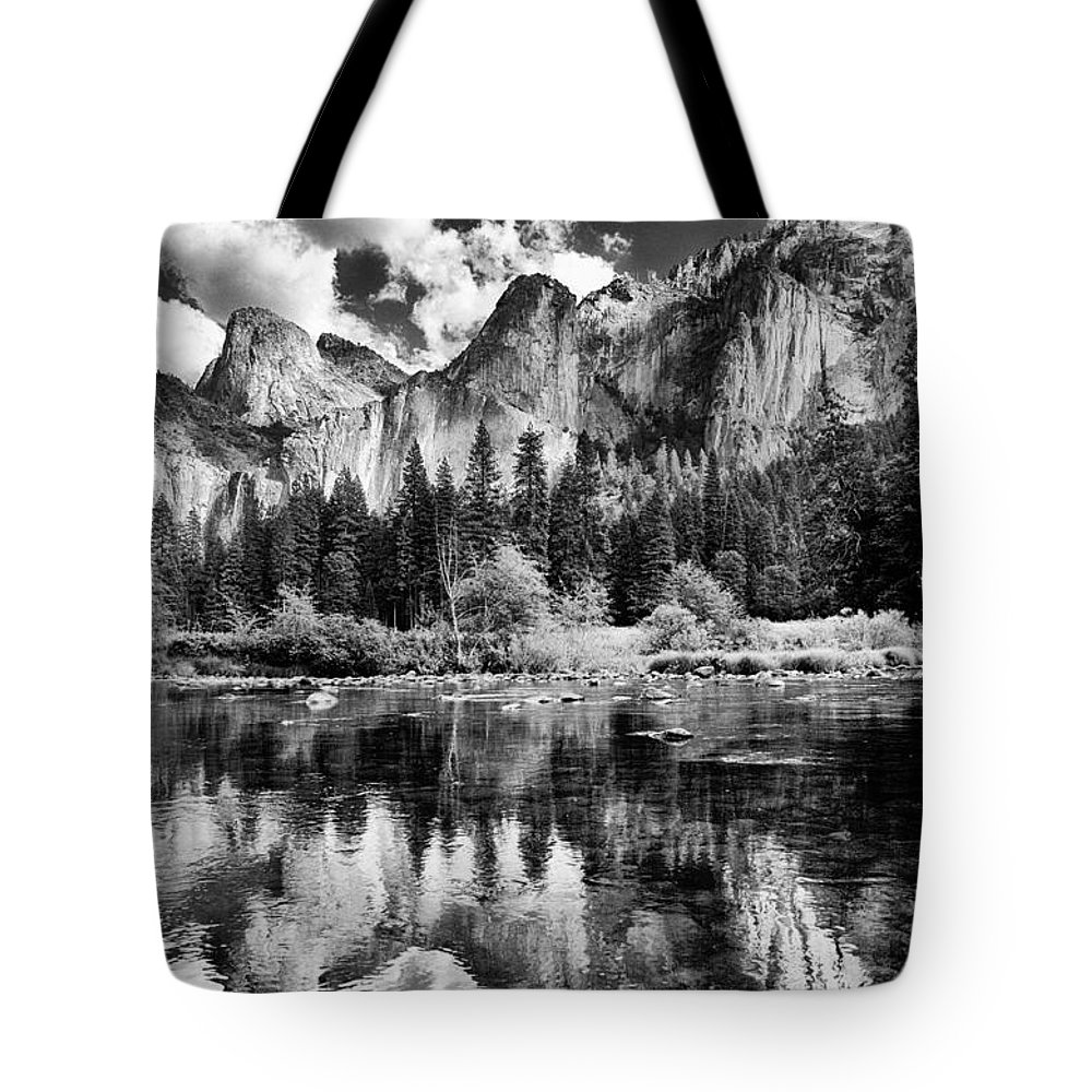 Clouds Tote Bag featuring the photograph Classic Yosemite by Cat Connor