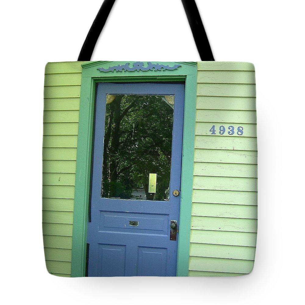 Door Tote Bag featuring the photograph Classy Farmhouse Door by Susan Wyman